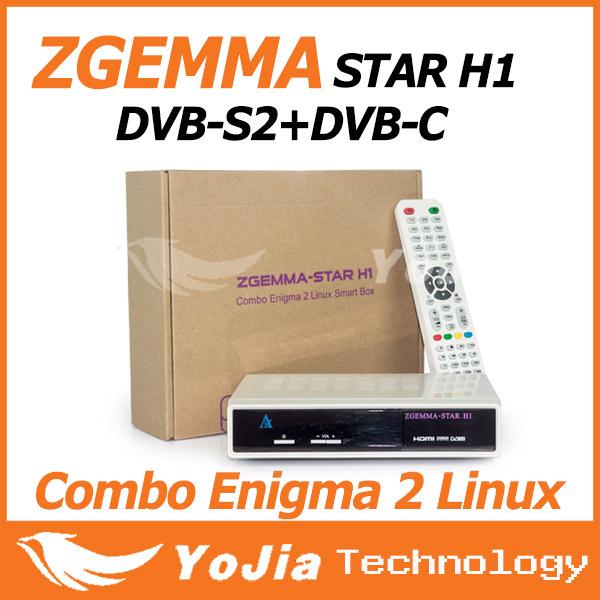 [Genuine]Zgemma-star H1 Satllite TV Receiver with DVB-S2+DVB-C Two Tuner Combo Enigma2 Linux Smart Box Zgemma star H1 Twin Tuner(China (Mainland))