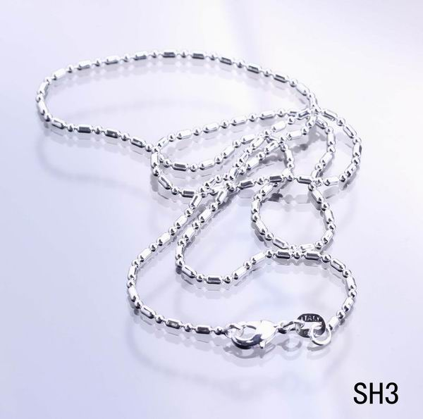 2014 New Fashion 10pcs/lot 16/18/20/22/24/26/28/30 inch Unisex Necklace Charms 925 Sterling Silver Ladys Chain Jewelry SH3(China (Mainland))