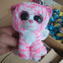 Buy A toy A dream Ty Beanie Boos Pink striped tiger 6inch Big Eyes Beanie Baby Plush Stuffed Doll Toy Collectible Soft Plush Toys for $4.22 in AliExpress store