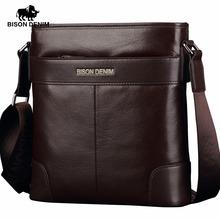 Buy BISON DENIM Genuine Leather Shoulder Bag Satchel Cowhide messenger bag men's Crossbody Bags high gift N2214 for $45.90 in AliExpress store