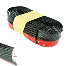 New Carbon fiber Rubber Soft Black bumper Strip Car 60mm Width 2.5m length Exterior Front Bumper Lip Kit / Car bumper Strip(China (Mainland))