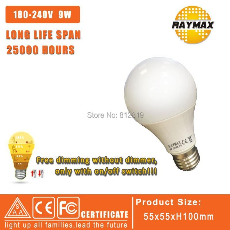 Free dimming Led Lamp E27 110V/220V 9W Led Bulb E27 360 Degree Cold White &amp;Warm White Energy Saving Light <br><br>Aliexpress