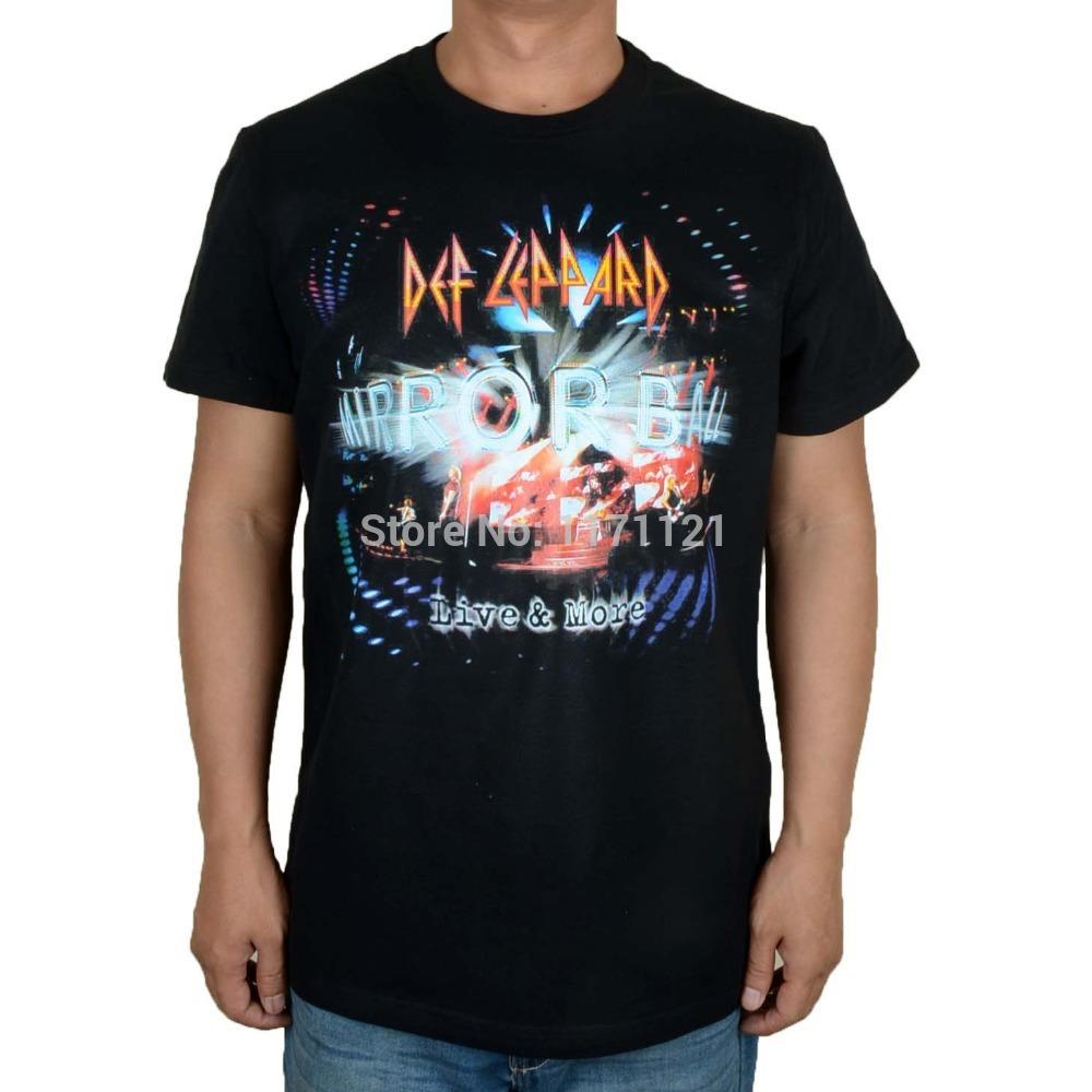 Free shipping RETRO 2014 vintage vinyl DEF LEPPARD Pyromania Black T-Shirt Size M-3XL(China (Mainland))