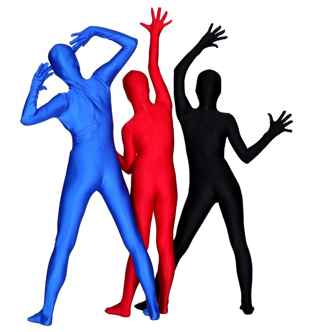 Womens-Plus-Size-Full-Body-Open-Face-Lycra-Spandex-Zentai-Suit-Costume-Zipper-Long-Sleeve-Hood