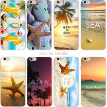 Buy phone case Beach starfish landscape clear soft silicon TPU case cover fundas coque iPhone 7 7plus 5S SE 6 6S 6plus 6Splus for $1.59 in AliExpress store