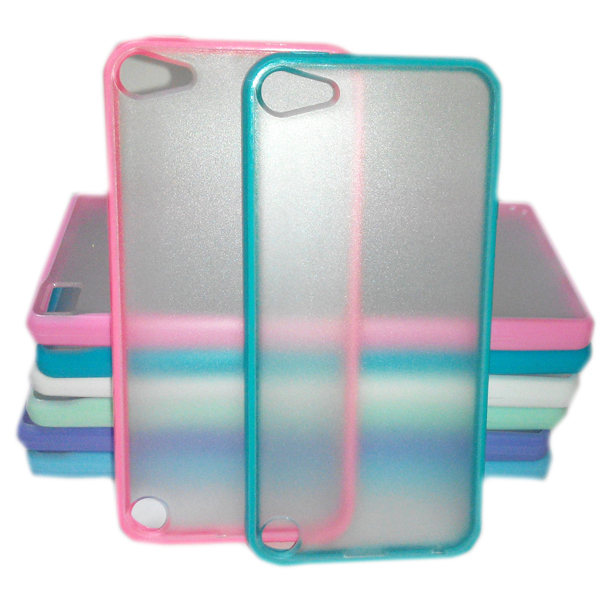 2015 Cheapest Media Player Case for iPod Touch 5 Lovely Candy Color Back Case Cover for iPod Touch T5(China (Mainland))