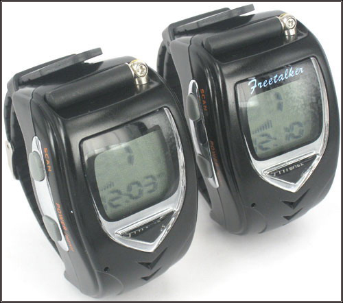 Walkie Talkie Watch Set - Backlit LCD free shipping(China (Mainland))