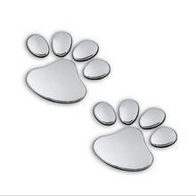 3D Car Window Bumper Body Decal Sticker Bear Dog Animal Paw Foot Prints Style  Anime Accessories for Car Aliexpress Hot Sale(China (Mainland))