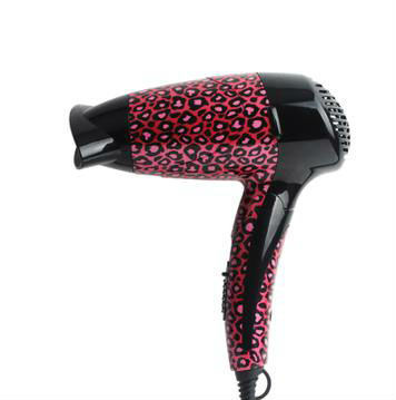 free shipping household travel hotel water transfer printing red leopard folding handle hair dryer 1200 Watts