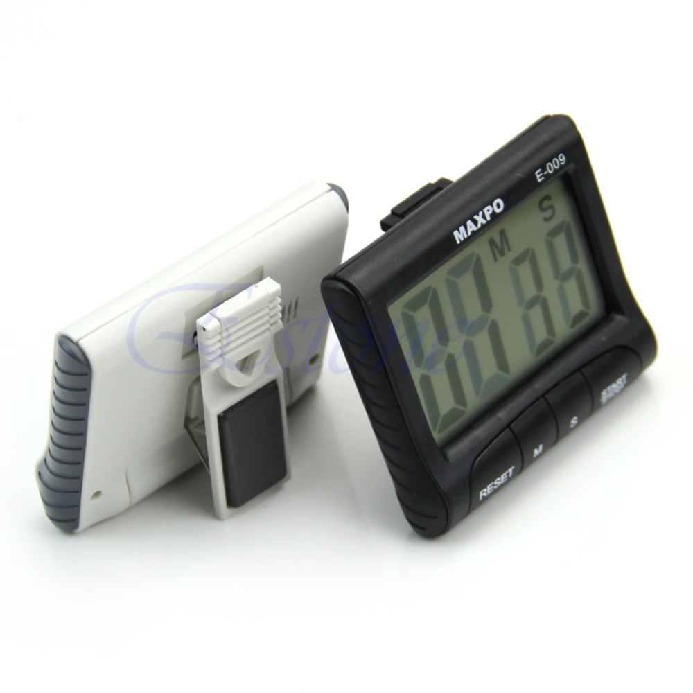 E74 LCD Digital Electronic Kitchen Count Up Down Memory Timer Alarm Large Magnetic(China (Mainland))
