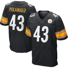 Men's #43 Troy Polamalu Elite Black Team Color Jersey 100% Stitched(China (Mainland))