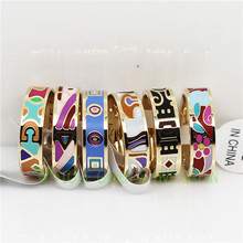 colorful round couple rings never fade guarantee shape stainless steel 316L Enamel craft jewelry 6522