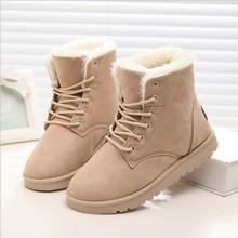 Nuevos 2014 botines calientes de las mujeres botas de nieve botas de piel de moda femenina y otoño invierno zapatos de las mujeres(China (Mainland))