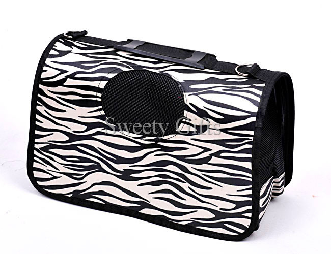 Cheap Price Leopard Foldable Dog Travel Bag Carrier Tote Crate Carrier House Kennel(China (Mainland))