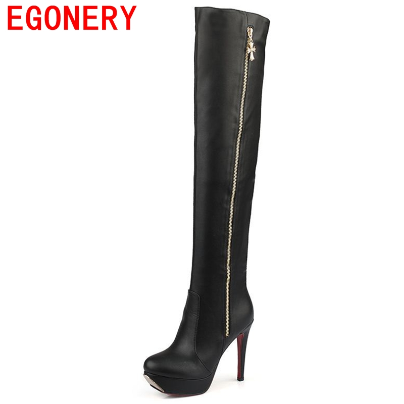 2015 winter round toe platform high heels over the knee boots fashion European style riding boots botas femininas shoes woman<br><br>Aliexpress