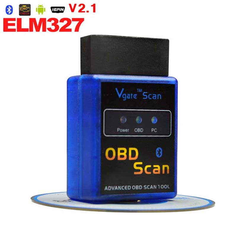 Car Interface ELM327 V2.1 Bluetooth ELM 327 OBDII OBD-II OBD2 OBD 2 Support Protocols Auto Diagnostic Tool Code Readers - HKKWOK's store