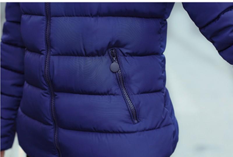 2016 Cotton  Short Paragraph  Nagymaros Collar Thick Padded Winter Jacket Slim Fashion Casual Jacket Tide BL117