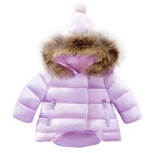 Kinder Mantel Baby Mädchen winter Mäntel langarm mantel mädchen warme Baby jacke Winter Oberbekleidung cartoon fleece(China)