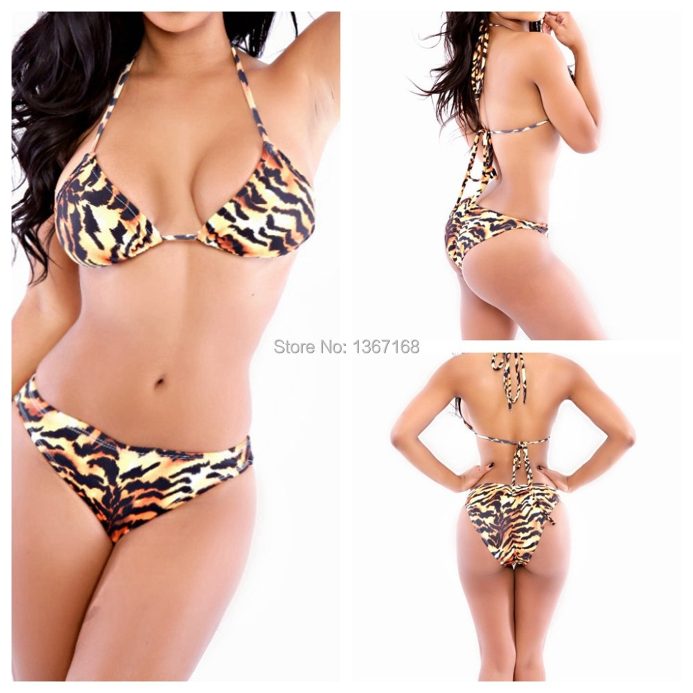 super push up bikini 2015 new bottom bikini low waist swimwear leopard bathing suites for women. Black Bedroom Furniture Sets. Home Design Ideas