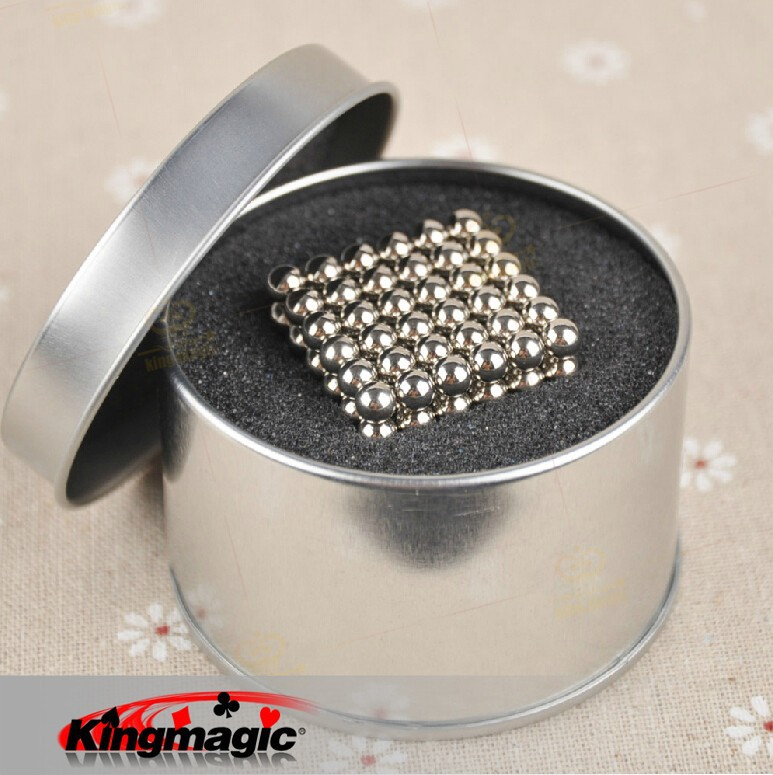 216 pcs Diameter 5mm Buckyballs Neocube Neo Cube Magic Cubes Puzzle Magnetic Magnet Balls Spacer Beads Silver Education Toy +Box(China (Mainland))
