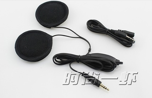 Motorcycle intercom Helmet Stereo communicator Earphone for MP3 MP4 GPS motorbike interphone accessories