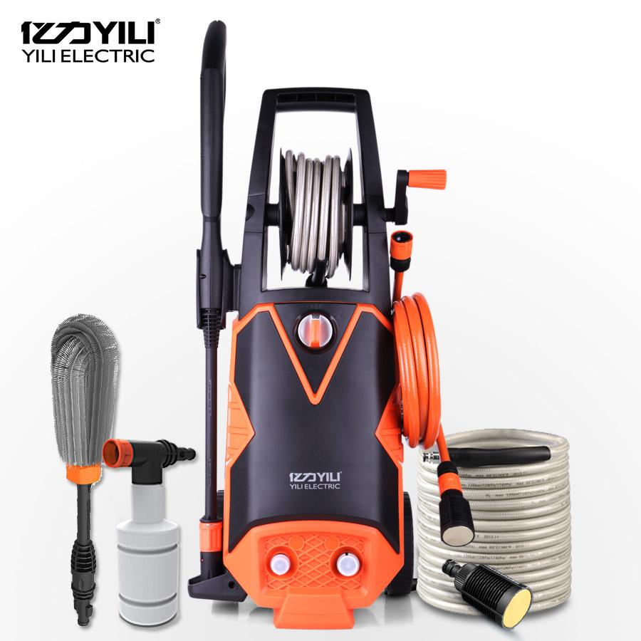 Free shipping High pressure 220V household car wash brush cleaner portable pump car gun(China (Mainland))