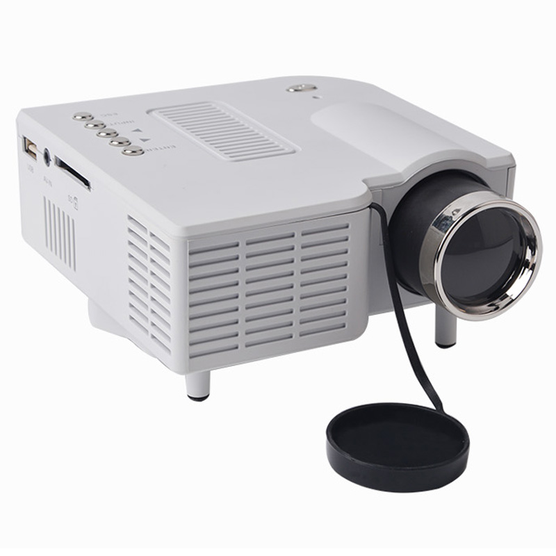1080p hd multimedia uc28 portable mini led projector for Small hdmi projector
