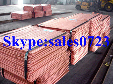 Copper Cathodes 99,99% Grade A 2013hot on sale(China (Mainland))