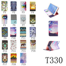 Magnetic Flip Stand Wallet PU Leather Cases for Samsung Galaxy Tab 4 8.0 T330 T331 T335 Tablet pc cover with Card Holder