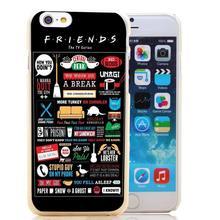 584-HOQE друзья забавный телешоу логотип новинка прозрачный футляр чехол для iPhone 6 6 s плюс 5 5S 5c 4 4S телефон чехол