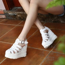 Flatforms Rome Close Toe China Cement Designer Shoes Hasp Ladies Wedge Shoes Woman Shoes High Heels Platform Punk College Style(China (Mainland))