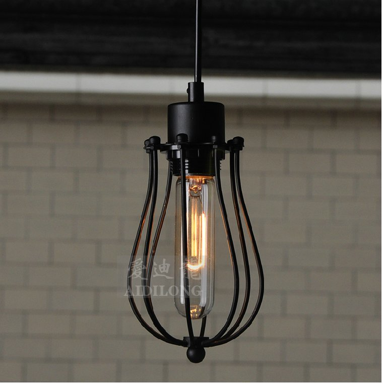 Loft American country industrial wind iron retro small cage grapefruit Chandelier<br><br>Aliexpress