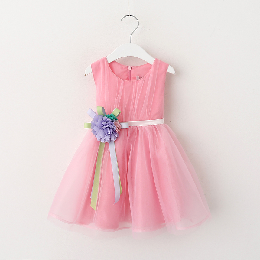 Girl Dress 2016 Summer New Floral Baby Girl Dress Princess TuTu Dress 4 Colors Infant Dresses Kids Clothing with Bow<br><br>Aliexpress