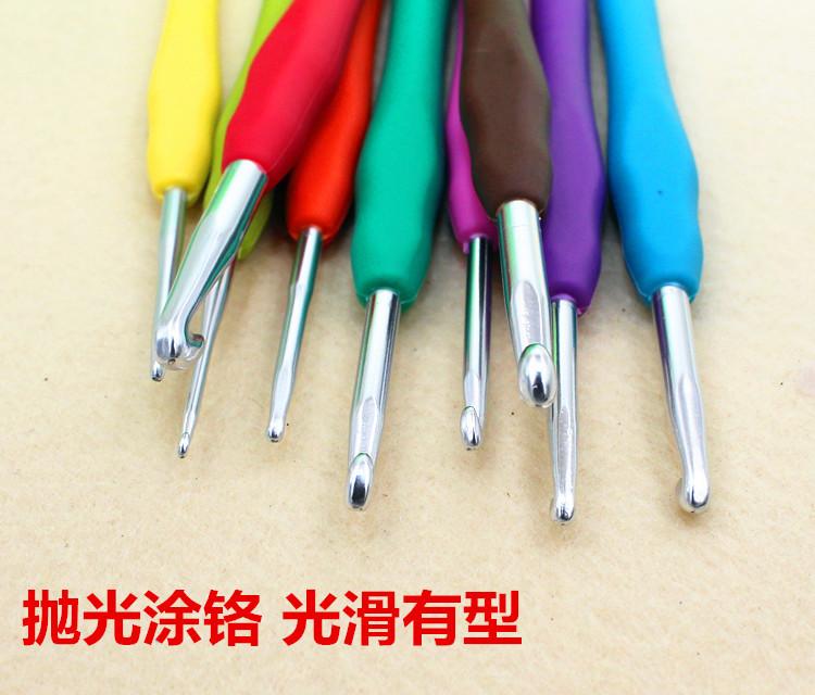 9pcs Hot Sale High quality New style Jacquard Scenic Diamond Embroidery Crafts Amour Crochet Hooks Set Knitting Needles(China (Mainland))