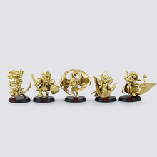 New Arrivals 5pcs/lot Dota Game Action Figure Toys PVC Action Figures Special Collection Golden dota 2 Models Table Decoration