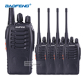 4pcs Handheld Two Way Radio Headset Baofeng bf 888S UHF Frequency Portable Long Range 2 Way