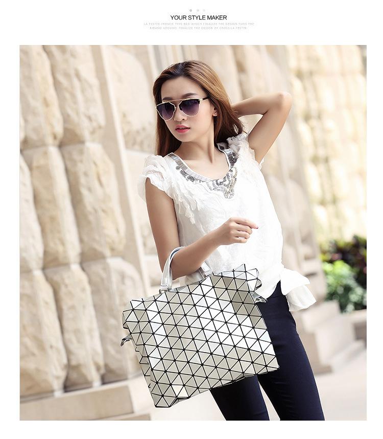 2016 New Fahion Woman Bag Plaid tote Handbags Fashion Shoulder Bags Diamond Lattice Handbag Bolsa briefcase BAO BAO Brand LOGO(China (Mainland))
