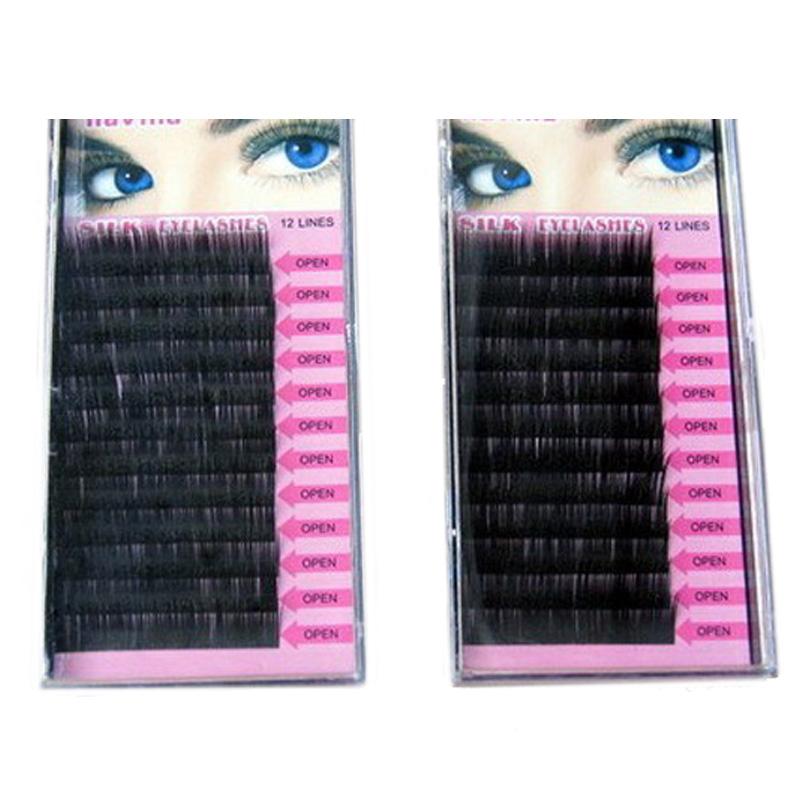 1PCS 0.15 C Curve 8/10/12/14mm Mink Eyelash Extension Artificial Eyelash Fake False Eye Lash Eyelashes(China (Mainland))