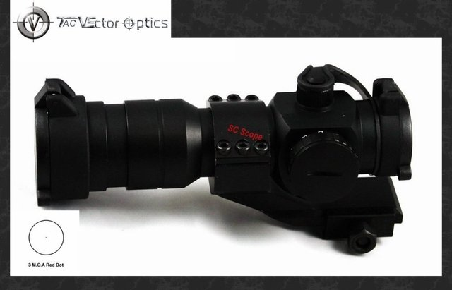 Vector Optics 1.5x30 Red Dot Scope 3 MOA Sight with Cantilever Weaver Mount Ring Fit for Night Vision