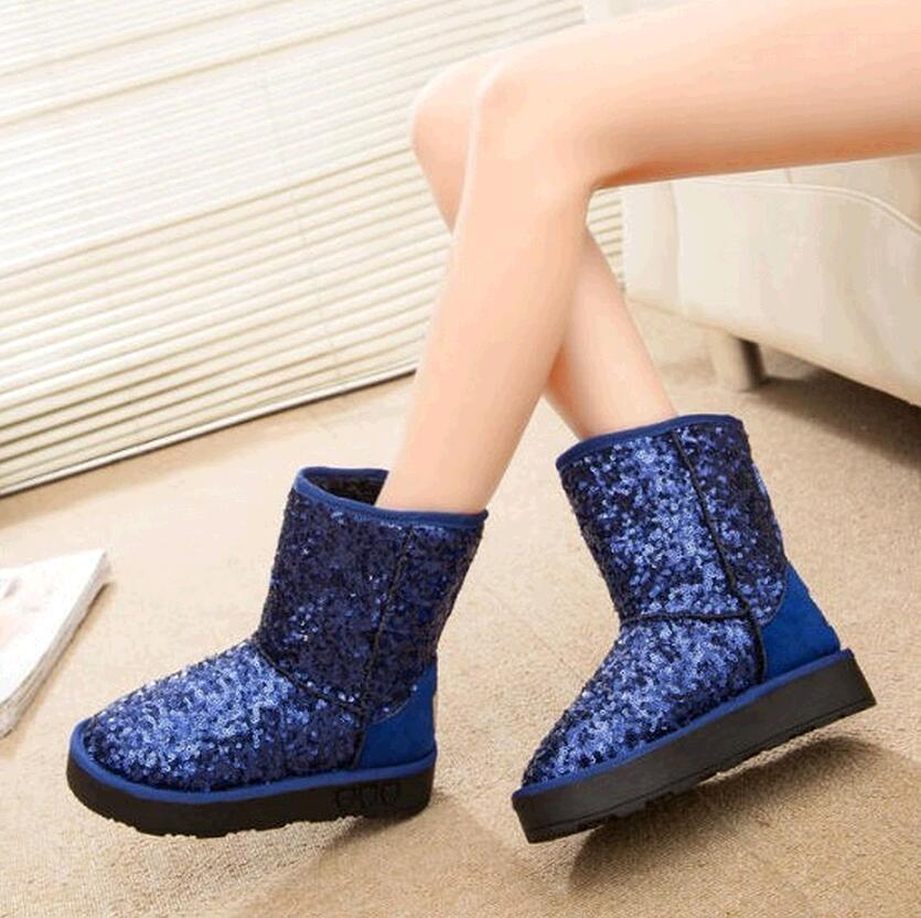 pu leather non slip waterproof snow boots 2015 winter