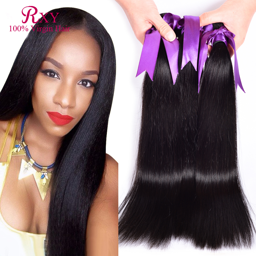 RXY Hair Products Malaysian Virgin 4 bundles deals 7A Straight Extension Cheap Human Bundles - Xuchang Industrial & Trade CO.,ltd store