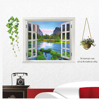 DIY Nature Lovely Window Tree-lined trail Decal Vinyl Wall Sticker PVC Decor Decoration DIY Home Living Room