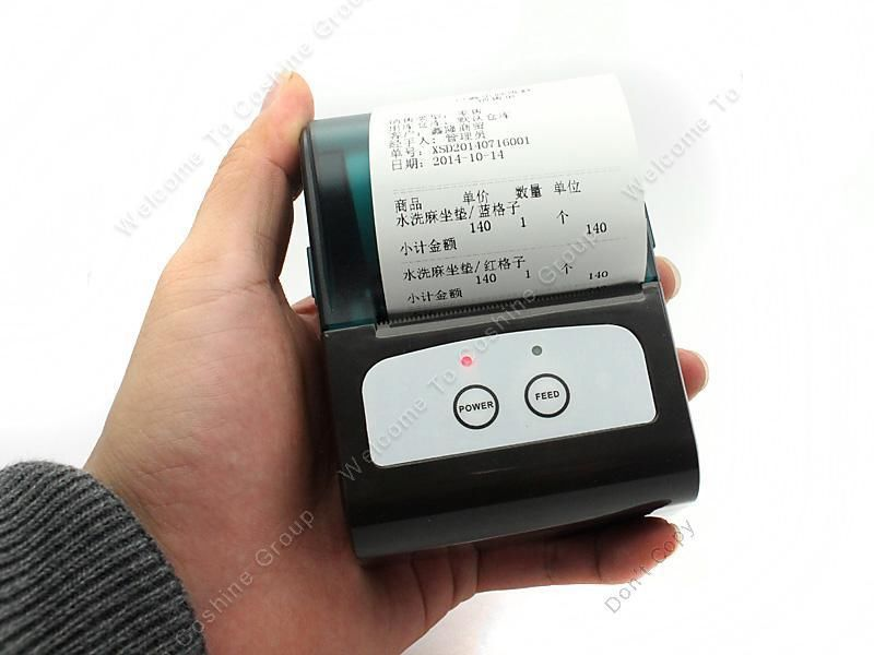 Free shipping!Portable Mobile Bluetooth Wireless Speed Thermal Printer For Apple phone 58mm(China (Mainland))