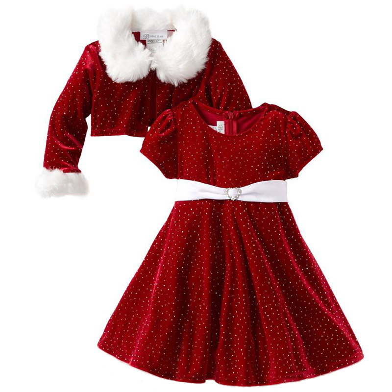 Brand Baby Autumn/Winter Clothes Sets Infant Suits Kids Clothing Red Dot Girl Dress+ Coat 2PCS Sets Christmas Wear LM40(China (Mainland))