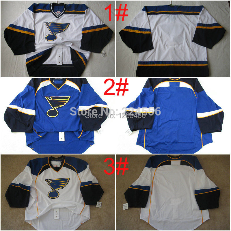 2014 men &amp; kids custom jerseys St. Louis Blues jersey goalie cut Jersey away white jersey customize swen on Any Name &amp; NO. Size<br><br>Aliexpress