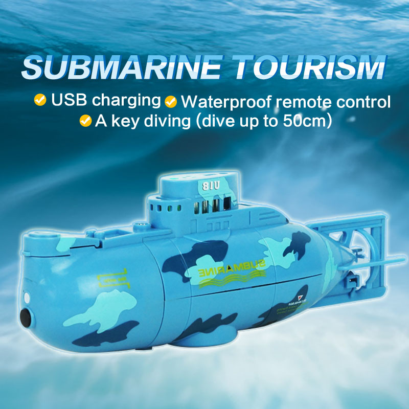 Mini Submarine Toy 2017 6CH Speedboat Model High Powered Boat Remote Control RC Submarine For Children