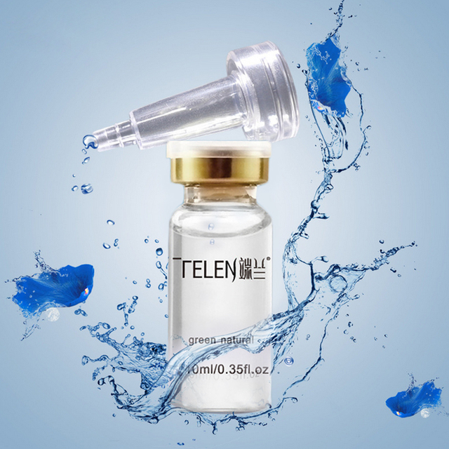 10ML hyaluronic acid serum skin moisturizer argireline peptide face repair cream snail white crystal collagen vitamin face