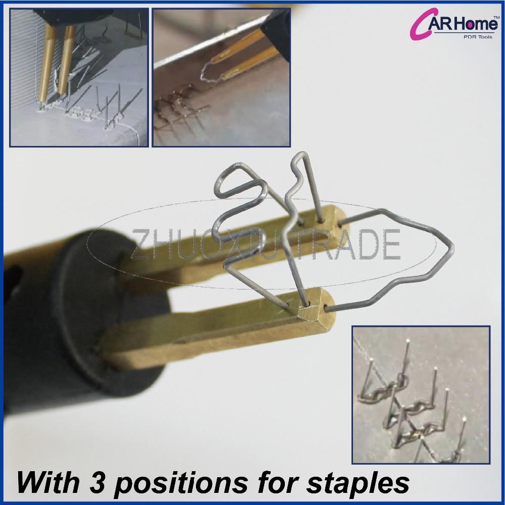 Buy Hot Stapler Kit- Panel Shop Bumper Repair Plastic Repairs Kit INC'S 600 Staples and Melt Knife (Iron) WS-002 cheap