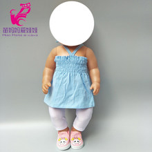 Кукольная одежда для 40 см 43 см новорожденный Детские кукольная юбка Мех животных жилет рубашка 18 дюймов девушка кукла зимняя(China)