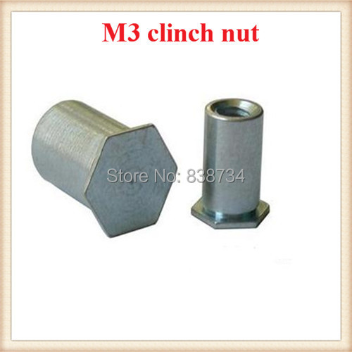 carbon steel with white zinc coated m3*11mm blind hole hexagon head nut<br><br>Aliexpress